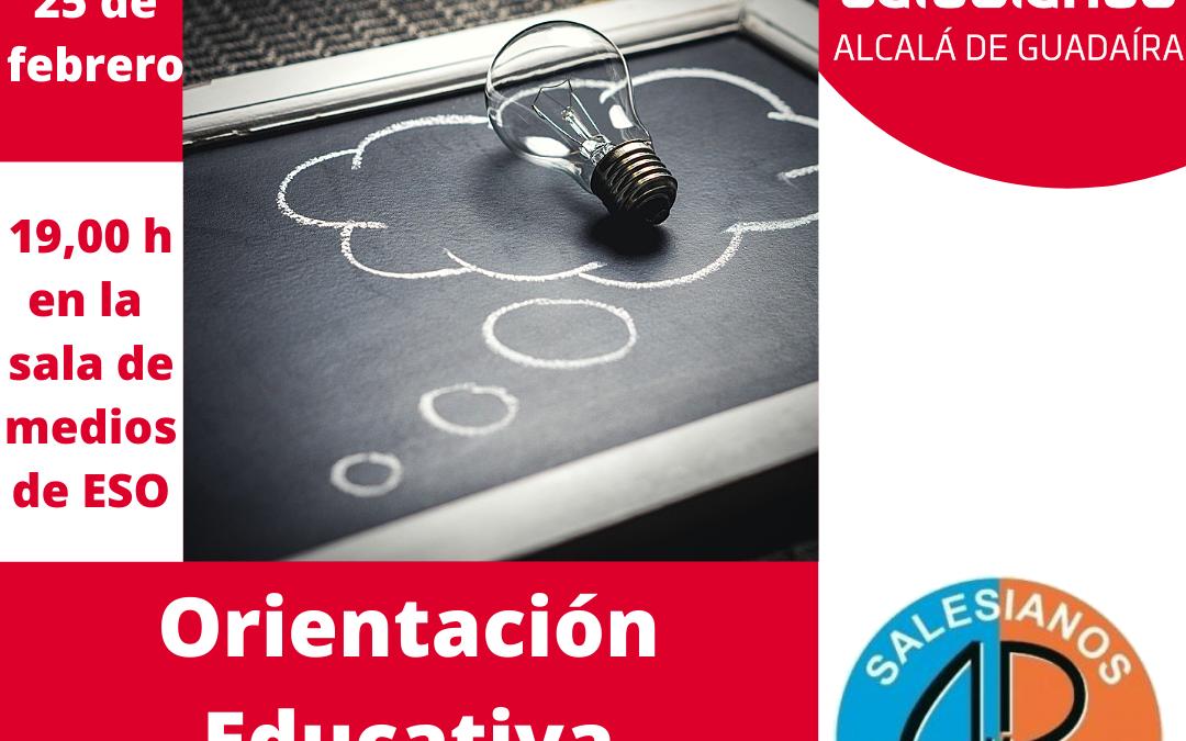 Formación a las familias sobre la orientación educativa
