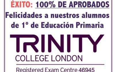 100% de aprobados en las pruebas de Trinity