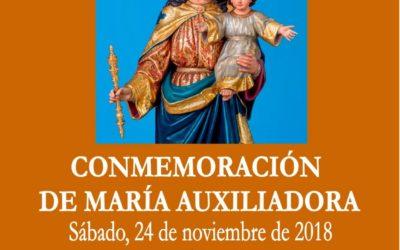 Conmemoración a María Auxiliadora